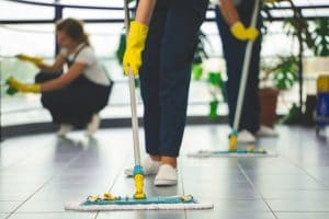 nettoyage des locaux pour une entreprise